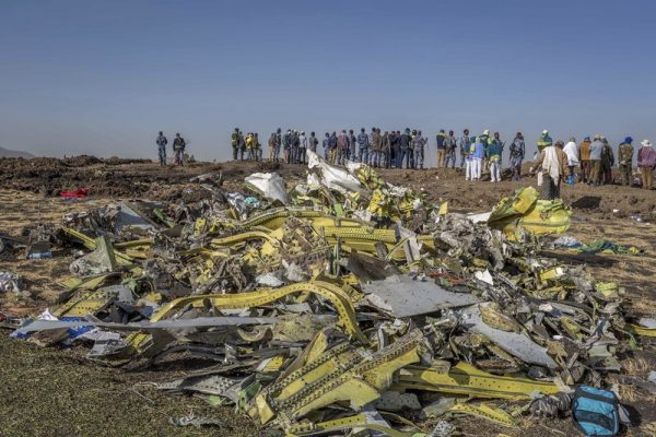 Wreckage of Ethiopian Airlines flight 302  (AP Photo/Mulugeta Ayene)